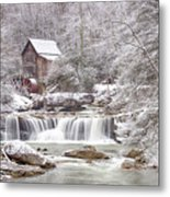 Winter Day At The Mill  Metal Print