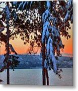 Winter Drama Sunrise Panorama Metal Print