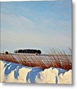 Winter Dunes Metal Print