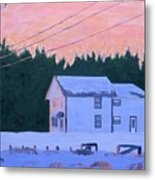 Winter Dusk Metal Print
