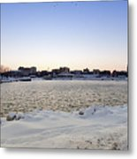 Winter Evening In Racine Metal Print