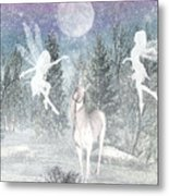 Winter Fairy Magic Metal Print