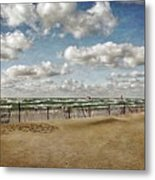 Winter Fences In Grand Haven 3.0 Metal Print