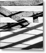 Winter Fences Metal Print