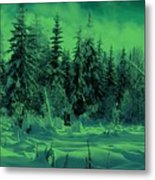 Winter Forest Dream At Dusk Metal Print