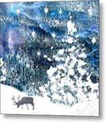 Winter Forest Scene Metal Print