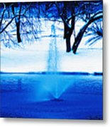 Winter Fountain 2 Metal Print