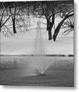 Winter Fountain Metal Print