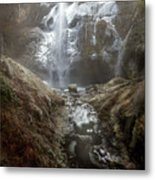 Winter Freeze At Multnomah Falls Metal Print