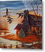 Winter Getaway Metal Print