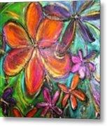 Winter Glow Flower Painting Metal Print