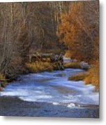 Winter Gold On The Yakima River Metal Print