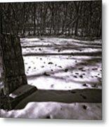 Winter Grave Metal Print