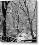 Winter, Ham Burn, Whitley Mill Metal Print