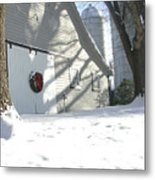 Winter Holiday At The Farm. Metal Print
