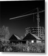 Winter Homes The Crane And The Great Plough Metal Print