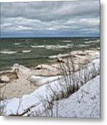 Winter Ice On Lake Michigan Ll Metal Print