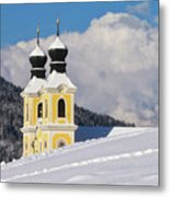 Winter Illusion Metal Print