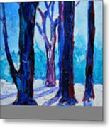 Winter Impression Metal Print