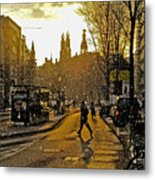 Winter In Amsterdam-1 Metal Print