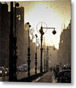 Winter In Amsterdam-2 Metal Print