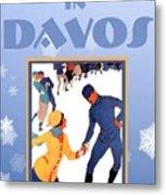 Winter In Davos Metal Print