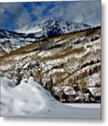 Winter In East Vail Metal Print