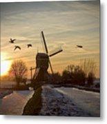 Winter In Holland-2 Metal Print