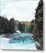 Winter In Kalkaska Metal Print