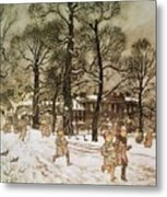 Winter In Kensington Gardens Metal Print