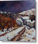 Winter In Luxembourg Metal Print