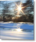 Winter In Motion Metal Print