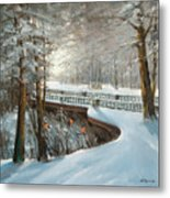 Winter In Pavlovsk Park Metal Print
