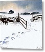 Winter In Stainland Metal Print