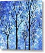 Winter In The Woods Abstract Metal Print