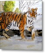 Winter In The Zoo Metal Print