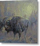 Winter In Yellowstone Metal Print