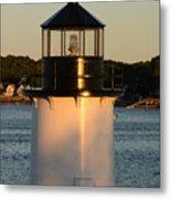 Winter Island Lighthouse At Sunset, Salem, Massachusetts Metal Print