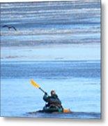 Winter Kayak Metal Print