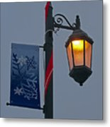 Winter Lamppost Metal Print