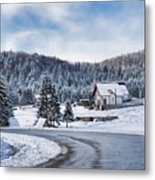 Winter Lands Metal Print