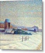 Winter Landscape 1885 Metal Print