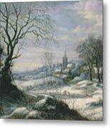 Winter Landscape Metal Print by Daniel van Heil