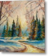 Winter Landscape Knowlton Quebec Metal Print