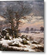 Winter Landscape. Near Vordingborg Metal Print
