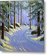Winter Landscape Study 1 Metal Print