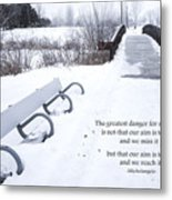 winter landscape with Inspirational Text Metal Print