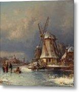 Winter Landscape With Mills Zaardam Metal Print