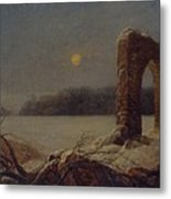 Winter Landscape With Ruined Arch Metal Print