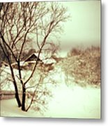 Winter Loneliness Metal Print by Jenny Rainbow